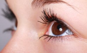 Beautiful woman eyelashes