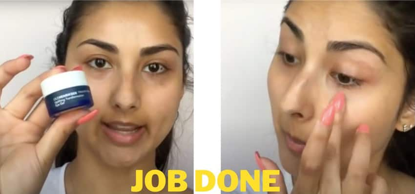 applying ointment or cream to remove eyelash extension