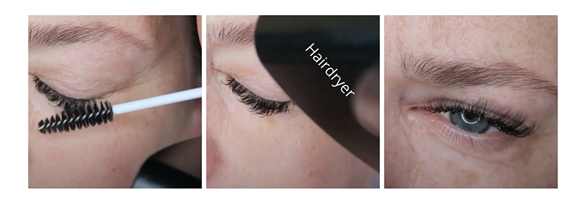Brush through the lashes with the mascara