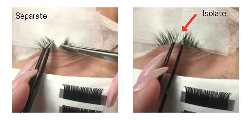 Extensions eyelash