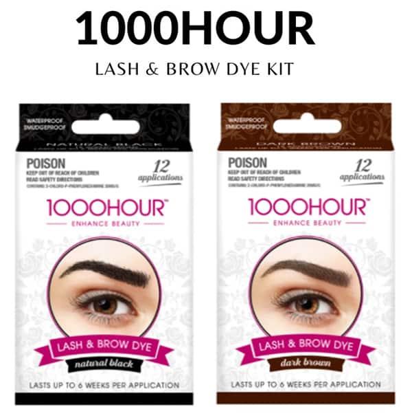 1000 hour eyelash brow dye kit