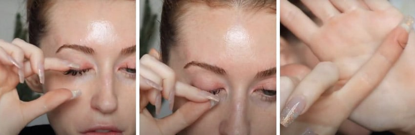 how to remove eyelash extension