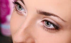 beautiful female eyelashes